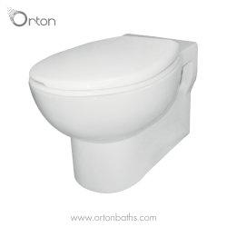 مرحاض مزود بكبسة إغلاق مثبتة على الحائط مع تجهيزات أنابيب غطاء المقعد