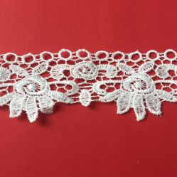 Vêtements de l'artisanat broderie Bridals Décorations de la Dentelle Pizzo Macrame Poliestere 5cm