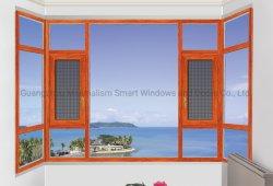 Fenêtre forme spéciale de matériau aluminium avec double verre trempé