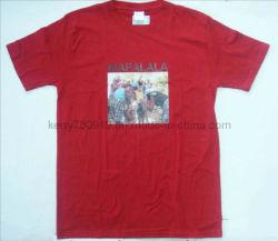 L'impression avec du coton polyester col rond. Court-T-Shirt Sleev