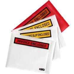 La posta inclusa delle buste della fattura dell'acetato di imballaggio della busta con chiusura autoadesiva con chiusura autoadesiva inclusa della lista insacca la prova dell'acqua
