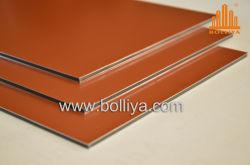 En matériau composite en aluminium en plastique