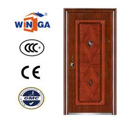 Buen precio la seguridad de metal de acero de madera Exterior Puerta de Hierro (W-S-141)