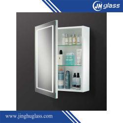 Belüftung-materieller Badezimmer-Spiegel-Medizin-Schrank mit LED-Lichtern