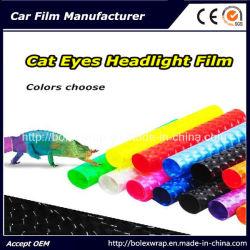 4D Oeil de Chat voiture film vinyle d'enrubannage de Phare, PVC autocollant pour feu de brouillard feu arrière