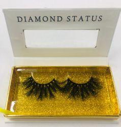L'emballage personnalisé 100 % 25mm Vison réel coups de fouet les produits de beauté maquillage