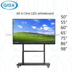 """70 """" 1つのパソコンTV WiFi Bluetoothの赤外線接触壁に取り付けられた設計されていた金属によってブラシをかけられるアルミニウムフレームのラージ・スクリーンすべて"""