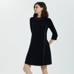 Robe en tricot pour Fashion femmes de 50 % de la laine Merino Extrafine 50% acrylique Blends-Machine lavable