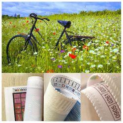 Eco Vélo de toile au printemps de mosaïque de paysages de champ semoir plein Peinture d'art