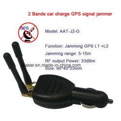 2 Bandes Mini chargeur de voiture allume-cigares Anti Tracking GPS L1 Brouilleur de Signal L2