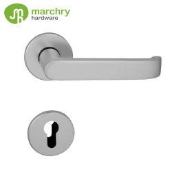 De alta calidad de mejor venta de hardware de la puerta de la tasa de fuego de la puerta de madera Cylinderical la palanca de bloqueo de puertas de aluminio