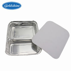 Milieuvriendelijk Food Grade Disposable Neem Fast Food Aluminium-folie uit Container met deksel