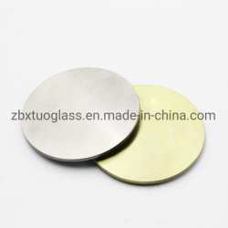 Bougie en verre d'alimentation de la verrerie d'usine Jar couvercle de métal de couleur rose de couleur argent doré