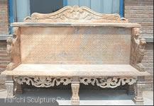 庭Decoration Outdoor Decorative Carved Stone Tableのための大理石のCarving Bench