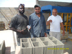 Construção de tijolo automática4-15 Qt concreto de cimento máquina de Blocos ocos