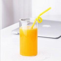 Verre transparent résistant aux températures élevées, Petit-déjeuner en verre de jus de verre de lait