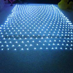 Voyant LED de couleur blanche Net Décoration de vacances à mailles de filets de lumières de plein air de lumière à LED