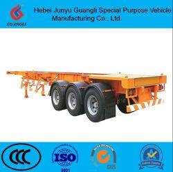 40FT/20FT rimorchio di scheletro pratico del camion del contenitore della gru resistente poco costosa del contenitore dei 3 assi semi