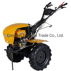 Mini-motoculteur Gt1050d/a, 6HP cultivateur agricole et l'essence timon