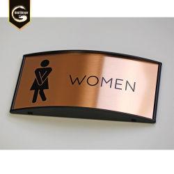 Cor de bronze wc curvo de alumínio sinal fêmea Macho