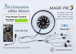 Bicicleta eléctrica kit de conversión, la tarta mágica 1000W, programable