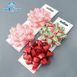 PP Flor impresa regalos Ribbon Bow para envolver la caja de regalo