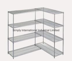 Nivel 4 estantes de almacenamiento de acero ajustable de gran capacidad estanterías de un cuarto frío.