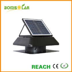 Forma cuadrada de 30W Montaje Ventilador de techo solar ático con motor DC IP68