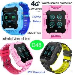 新しいデザイン4Gはビデオ呼出しD48を用いるスマートなGPSの腕時計を防水する