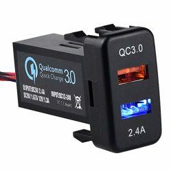 Два порта USB разъем зарядного устройства сверхбыстрой зарядки 3.0 и 2.4a для Toyota