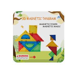 Горячий Промо образования игрушка магнитные Tangram пила по металлу, Iq Головоломка 3D Tangram