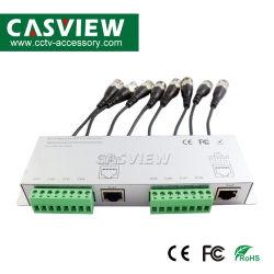 HD 8CH Ahd Cvi Tvi CVBS Transmissor de vídeo analógico com caixa de alumínio do terminal do cabo BNC 8 Channel Balun de vídeo UTP passivo RJ45 Cat5 Acessórios CCTV