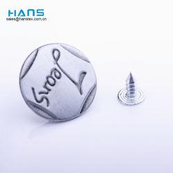 Tasti lavabili del metallo del rivestimento del Jean di qualità eccellente di Hans