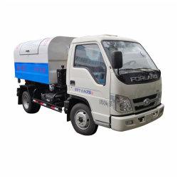 Camion di immondizia residuo comunale dell'elevatore del braccio di amo degli scomparti del collettore 3000L /4000L di telecomando di scopo mini
