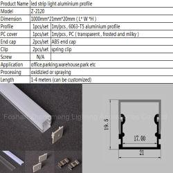 Fita LED flexível dos três lados do perfil de alumínio leve