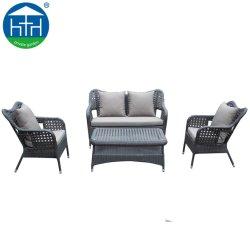 O luxo moderno Banco profunda em vime Vime U Piscina Sofá Set Home sala de estar grande sofá UV à prova de água