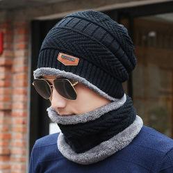 Venda por grosso de vestuário de malha Beanie quente de inverno chapéu e Cachecol define