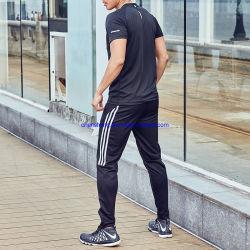 ワイシャツの反射側面の動揺のズボンメンズスポーツ・ウェアのスーツのサッカーの演劇の体操セットを実行するTシャツの人のスーツ