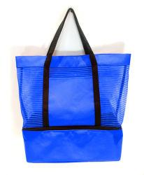 Sacchetto promozionale della spiaggia di modo del sacchetto di Tote di modo del sacchetto del dispositivo di raffreddamento del gessato