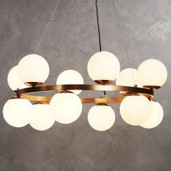Для использования внутри помещений, подвесной светильник из стекла шаровой опоры рычага подвески Luminaria Pendente современной подвесными лампа