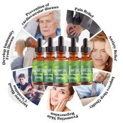 Organische 100% natürliche Pflanze extrahiert Antiaushärtungs-Gesichtsreparierenschmerz-Entlastungs-Hanfsamen Cbd Öl