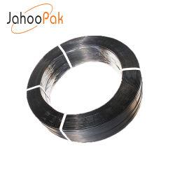 Fascia liscia della cinghia dell'imballaggio dell'animale domestico del nero del fronte dell'estremità per l'imballaggio di filatura del cotone