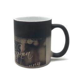 Sensible à la chaleur de tasses de voyage de café de changement de couleur de la sublimation de la magie de la céramique Mug blancs