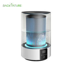 Backnature 3L de capacidad máxima de 300ml/H de sueño, distribución, de modo automático de humedad constante Cool & Neblina caliente Humidificador con esterilización