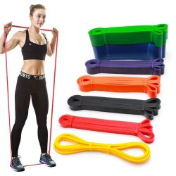 Venta directa de fábrica de logotipo personalizado de Yoga de la cadera elástico Non-Slip Ejercicio Ejercicio fitness gimnasio en casa el ejercicio de la banda de la resistencia de látex