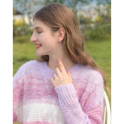 Commerce de gros personnalisé Women's Twist pullover à rayures pullover en tricot desserrés