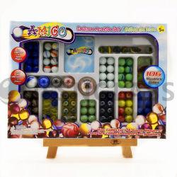 Mármore de vidro, brinquedos, esfera de vidro, futebol, basquetebol