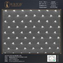 عرض 150 سم أقل سعر متعدد الألوان نايلون المطاط النسيج تصميم الأزياء نمط القلب لace من الأسهم