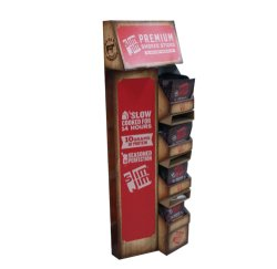 Revêtement de sol classique de style ancien présentoir Carton de papier vierge Standee avec de la publicité