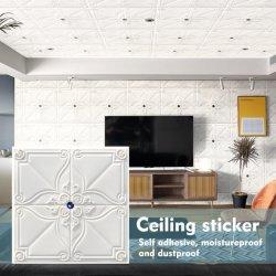 装飾的な3D XPEの泡の壁パネルの芸術の壁紙3Dパターン3D壁のステッカー